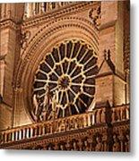 Paris France - Notre Dame De Paris - 01134 Metal Print by DC Photographer