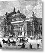 Paris Opera House, 1875 Metal Print