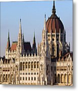 Parliament Building In Budapest Metal Print