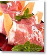 Parma Ham And Melon Metal Print
