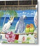 Parrots In Paradise Metal Print