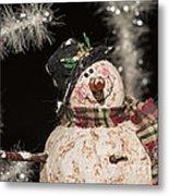 Partyin' Snowman Metal Print