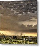 Pasture Sunset Metal Print