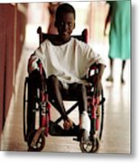 Patient In A Wheelchair Metal Print