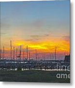 Patriots Point Sunset Metal Print