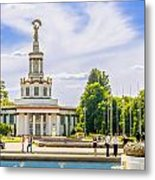 Pavilion In Kiev's National Complex  Metal Print