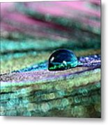 Peacock Gem Metal Print