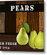 Pear Farm Metal Print