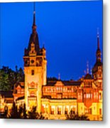 Peles Castle In Sinaia Romania Metal Print