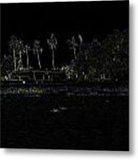 Pencil - A Houseboat On Its Quiet Sojourn Through The Backwaters Metal Print