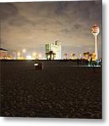 Pensacola Beach At Night Metal Print