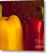 Peppers Still Life Close-up Metal Print