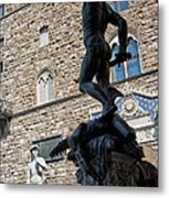 Perseus By Cellini Metal Print