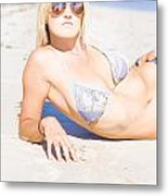 Person On Summer Holidays Metal Print