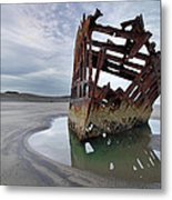Peter Iredale At Dawn Metal Print