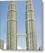 Petronas Twin Towers In Malaysia Metal Print