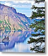 Phantom Ship Overlook In Crater Lake National Park-oregon Metal Print