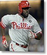Philadelphia Phillies V Los Angeles Metal Print