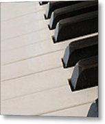 Piano Keyboard At Angle Metal Print