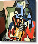 Picasso's Harlequin Musician Metal Print
