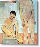 Picasso's Two Youths Metal Print