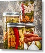 Pickled Vegetables Metal Print