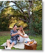 Picnic In The Woods Metal Print
