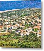 Picturesque Mediterranean Island Village Of Kolan Metal Print