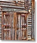 Pig And Poultry Barn Metal Print