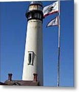 Pigeon Point Lighthouse Pescadero California Metal Print