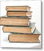 Pile Of Very Old Books Metal Print