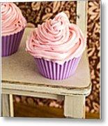 Pink Cupcakes Metal Print