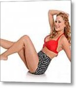 Pinup Girl Metal Print