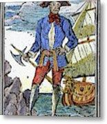 Pirate Edward England Metal Print