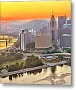 Pittsburgh Sunrise Panorama Metal Print
