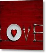 Place Setting Metal Print