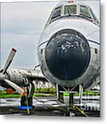 Plane Noses Up Metal Print