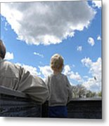 Plane Viewing From The Truck Bed Metal Print