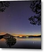 Planetary Conjunction Reflections At The Lake Mercury And Venus Metal Print