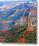 Point Imperial 8803 Feet On North Rim Of Grand Canyon National Park-arizona  Metal Print