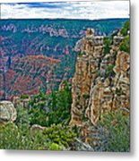 Point Imperial At 8803 Feet On North Rim Of Grand Canyon National Park-arizona   Metal Print