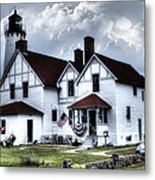 Point Iroquois Lighthouse Michigan Metal Print