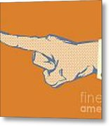 Pointing Finger Vector Metal Print