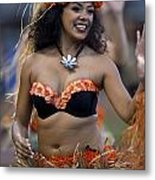 Polynesian Dancers Metal Print by Jason O Watson