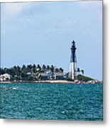 Pompano And The Hillsboro Inlet Lighthouse Metal Print