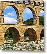 Pont Du Gard In Southern France Metal Print