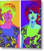 Pop Art Girl Metal Print