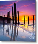 Port Willunga Sunset Metal Print