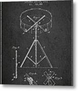 Portable Drum Patent Drawing From 1903 - Dark Metal Print by Aged Pixel