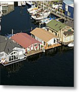 Portage Bay And Houseboats, Seattle Metal Print